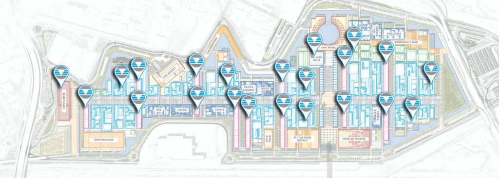 Mappa installazioni Clivet a Expo 2015
