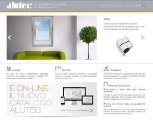 Home page del nuovo sito Alutec