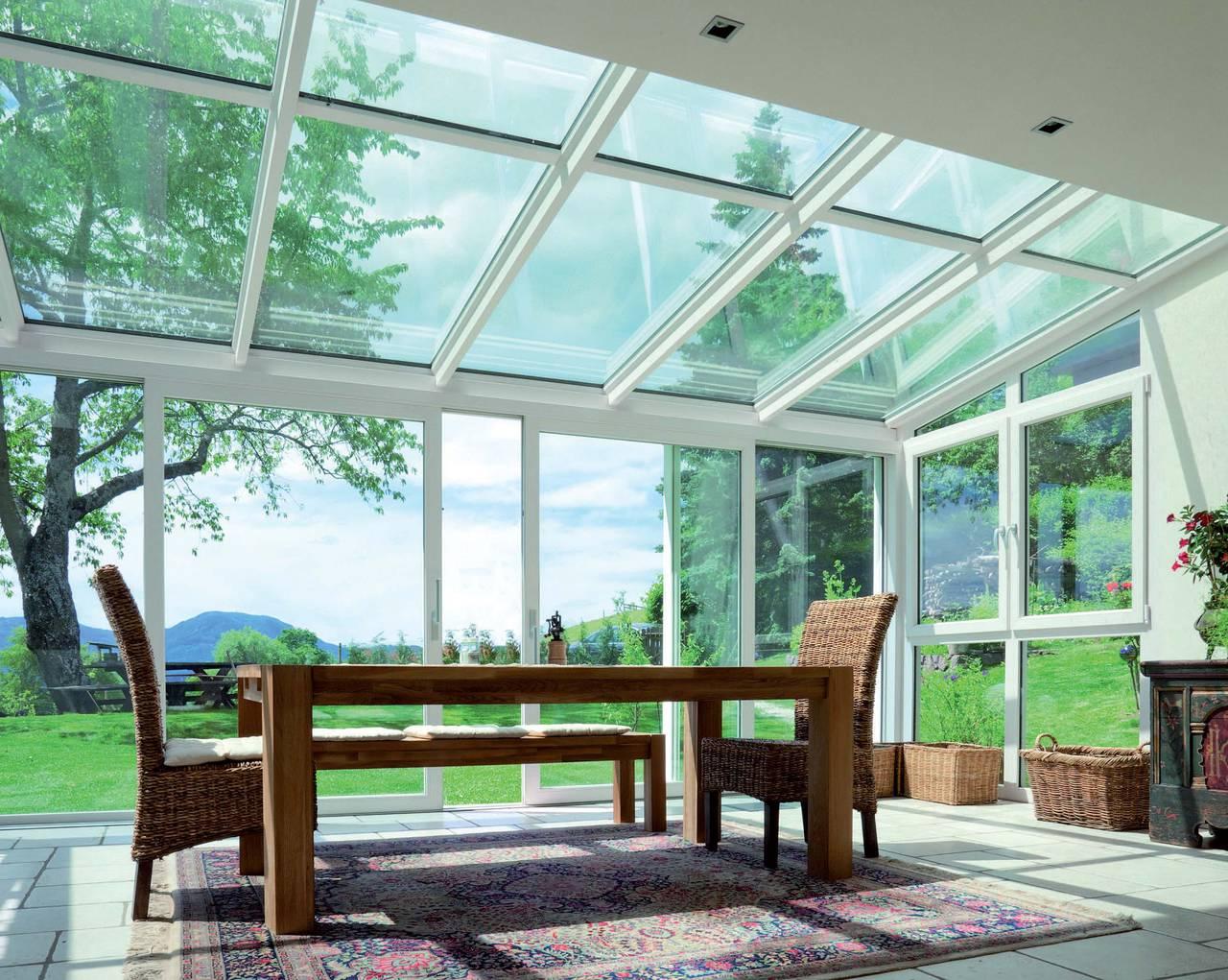Verande vetrate finstral in pvc ad alto valore termoisolante - Finestre doppi vetri prezzi ...