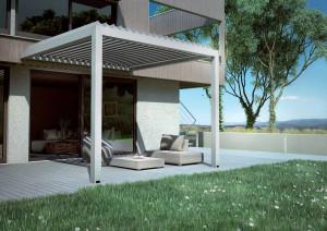 KEDRY, tettoia in alluminio con lame orientabili