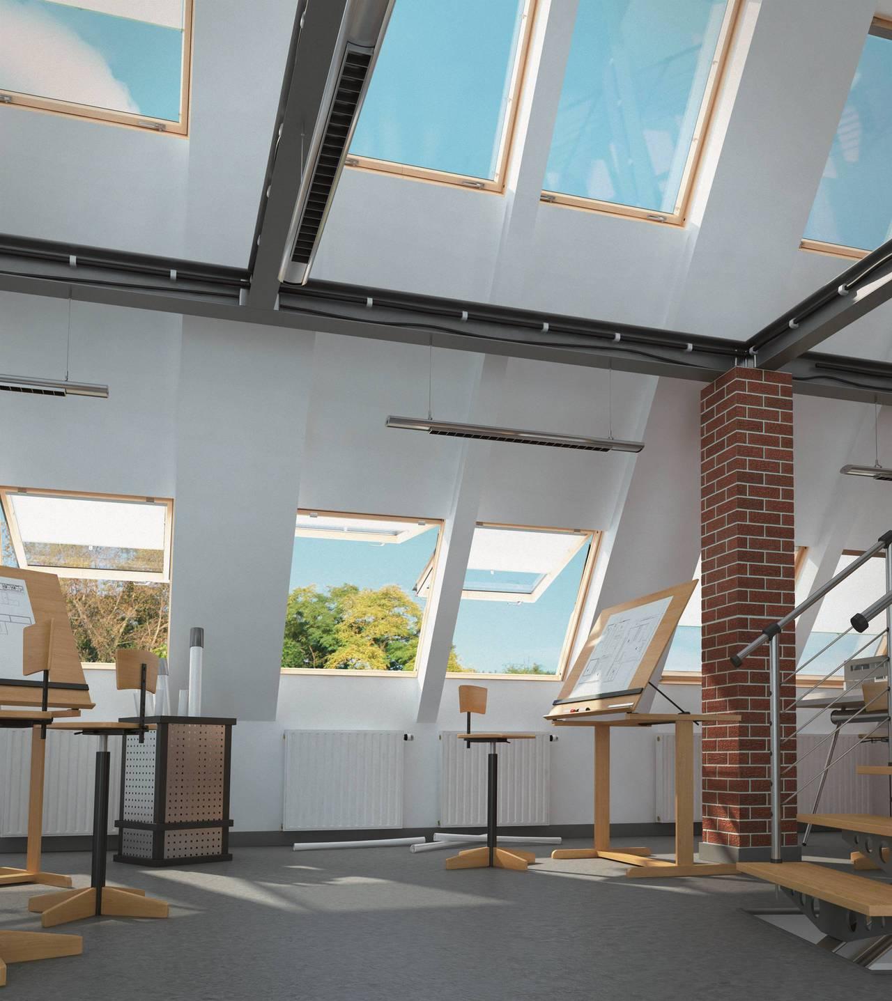 Finestre da tetto fep di fakro for Finestre a tetto