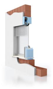Monoblocco finestra Presystem® Frangisole. Produzione Alpac