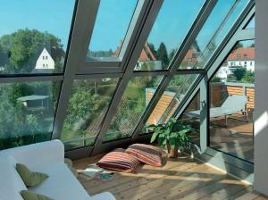 Anche nelle costruzioni più complesse di giardini d'inverno, i profili TS Aluminium assicurano l'isolamento e l'eliminazione dei ponti termici