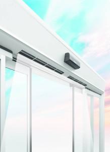 L'innovativa porta Air Slide di Faac, contribuisce a ridurre i consumi energetici