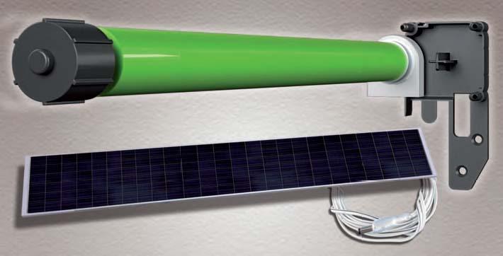 Motore autoalimentato a batterie ricaricabili o con pannello fotovoltaico per zanzariere, Produzione Genius Group