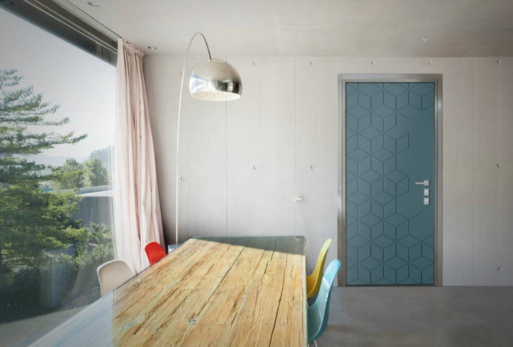 Porta VENICE con pannello Kubik di Andrea Castrignano