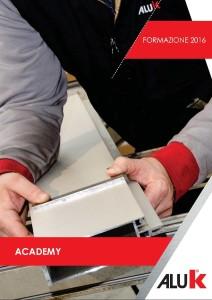 Copertina depliant AluK Academy