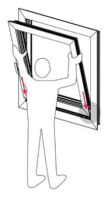 Magicube cerniera invisibile facile da installare for Piano del telaio della finestra