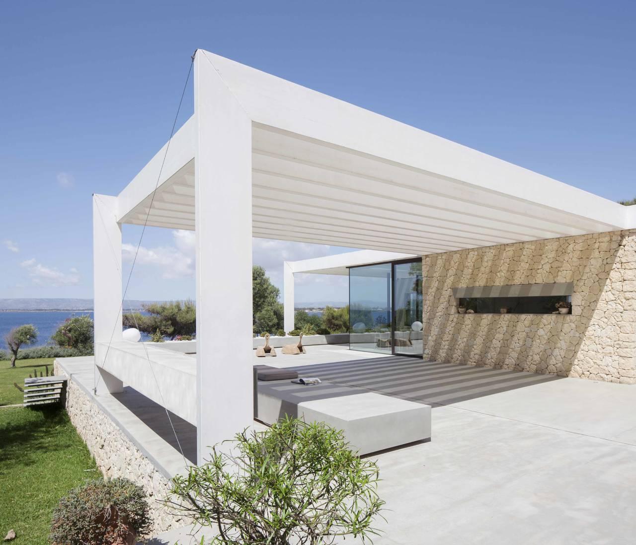 Sch co per una villa in sicilia progetto by studio iraci for Progettazione esterni