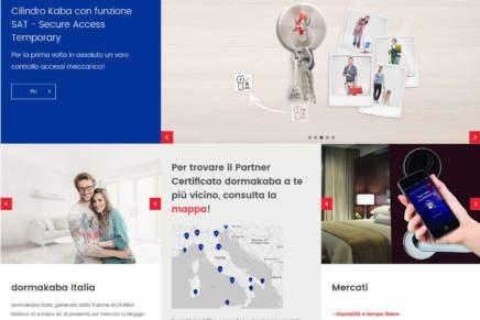 Il nuovo sito in lingua italiana sviluppato da dormakaba