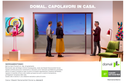 La nuova campagna Take per Domal: Il serramento che arreda